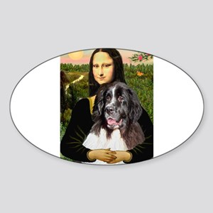 Mona Lisa's Landseer Sticker (Oval)